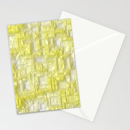 Peppy Crystals yellow Stationery Cards