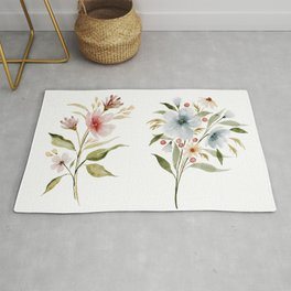 Two Tiny Bouquets Rug