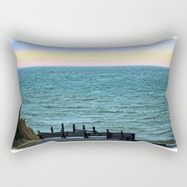 Beach Road Happisburgh Norfolk Rectangular Pillow