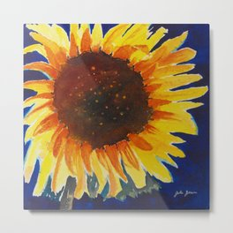 Here Comes the Sun-Flower Metal Print