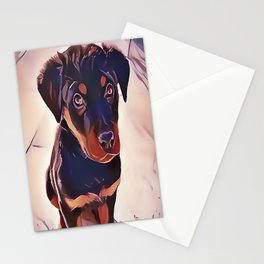 Rottweiler Puppy Born To Be Wild Stationery Cards