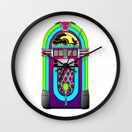 jukebox music music player Wall Clock