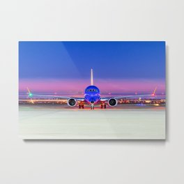 Face to face with a Boeing 737 Max 8 Metal Print