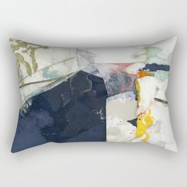 White Landscape from an Aerial View Rectangular Pillow