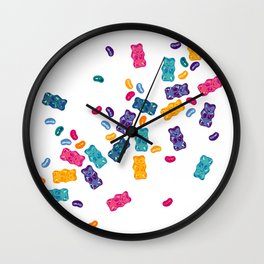 Sweet Jelly Beans & Gummy Bears Wall Clock