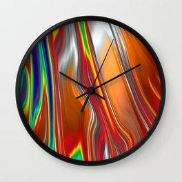 Monochrom Color Splash Abstract Wall Clock