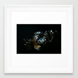 skull metal Framed Art Print