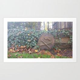 Graveyard skull and bones Art Print