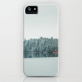 Frozen Lake in Canada iPhone Case