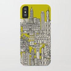 Hong Kong toile de jouy chartreuse iPhone X Slim Case