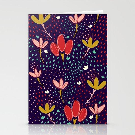 Vintage Ditsy Floral Stationery Cards