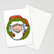 Santa Claus Wreath Stationery Cards