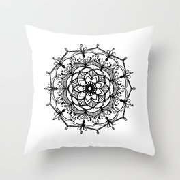 Hand-drawn mandala Throw Pillow