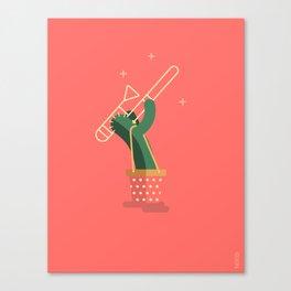 CACTUS BAND / The Trombone Canvas Print