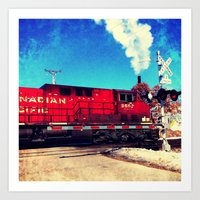 train Art Prints featuring Train  by Tiffany Scully