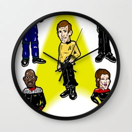 Want To Boldy Go...?  Just choose your captain! Star Trek's Sisko, Janeway, Archer, Kirk and Picard Wall Clock