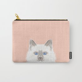 Roxie - White Birman Cat, Cute Kitten, White Cat Blue Eyes, Cell Phone Case, Cat Lady Gift Carry-All Pouch