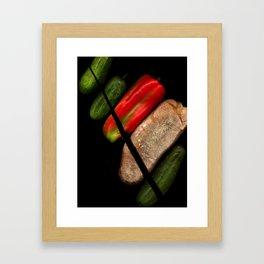 Chopped Salad Framed Art Print