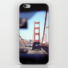 From the Backseat, Driving Across the Golden Gate iPhone Skin