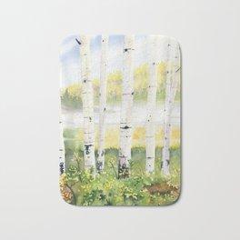 Behind The Birch Trees Bath Mat