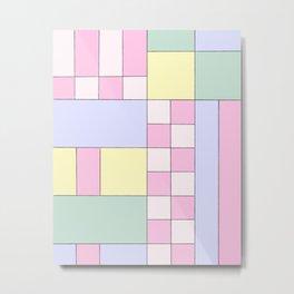 Pastel Block Metal Print