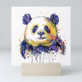 Colorful Panda Head Mini Art Print