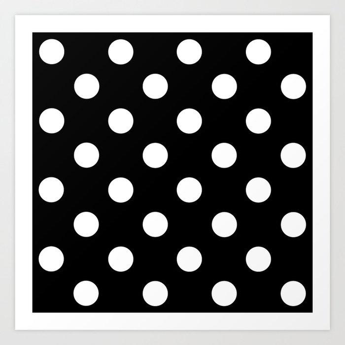 Polkadot (White & Black Pattern) Kunstdrucke