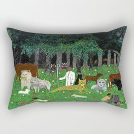 African American Masterpiece 'Holy Mountain III' by Horace Pippin Rectangular Pillow