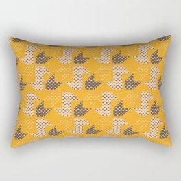 Clover&Nessie  Mandarin/Mocha Rectangular Pillow