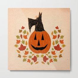 Scottie Pumpking halloween Metal Print