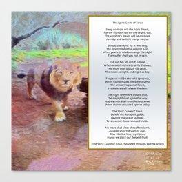 Spirit Guide of Sirius Poem Canvas Print