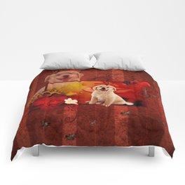 Sweet golden retriever Comforters