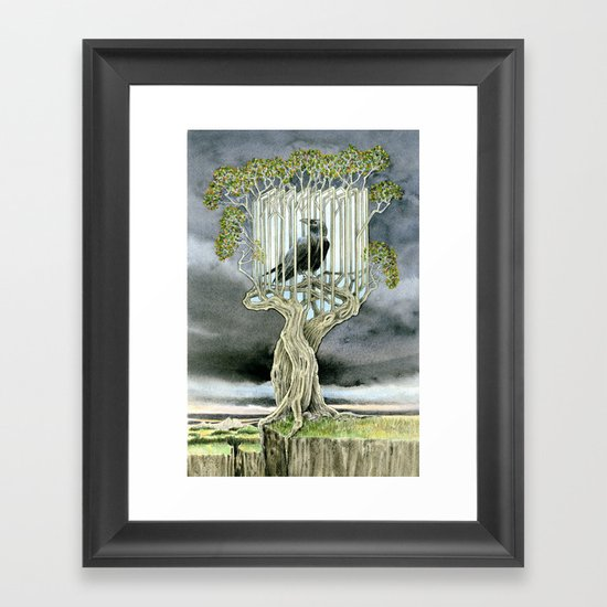 Wicked nature Framed Art Print