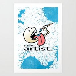Starving Artist - Paint Eater Art Print