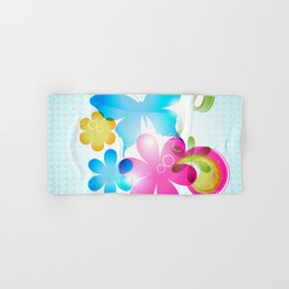 Butterfly Colorful Flowers Paisley And Butterflies Hand & Bath Towel
