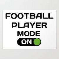 Football Player Moden On Art Print