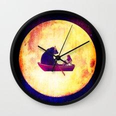 Moon Flight Wall Clock