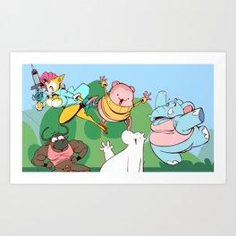 Peepoodo & The Super Fuck Friends Art Print
