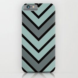 Chevron Shades of Gray & Black iPhone Case