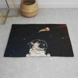 Pug and Pizza Space Rug