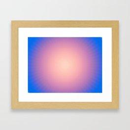 Round Sunset Framed Art Print