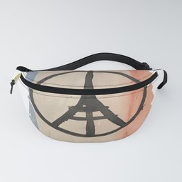 Outline of France with Tri-color Peace Fanny Pack