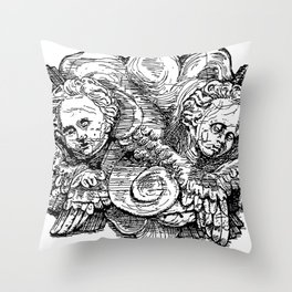Charlieau Abbey Cherubs Throw Pillow
