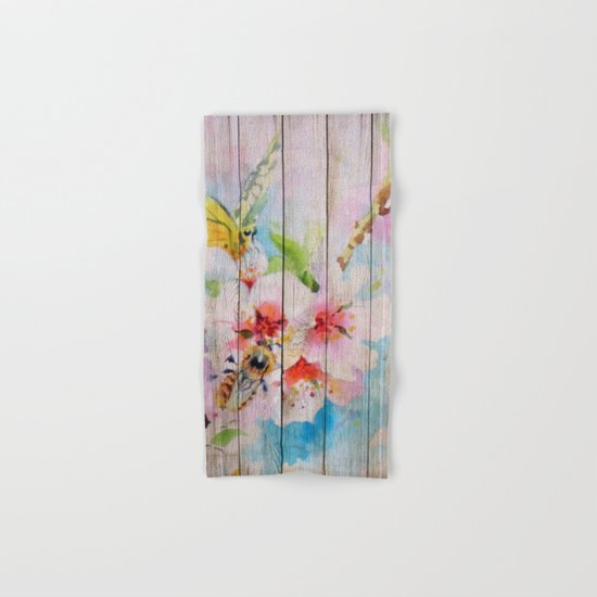 Spring on Wood 01 Hand & Bath Towel