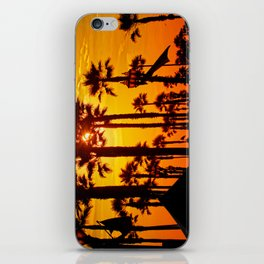HB Pier Plaza Palms iPhone Skin