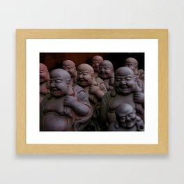 Laughing Buddhas Framed Art Print