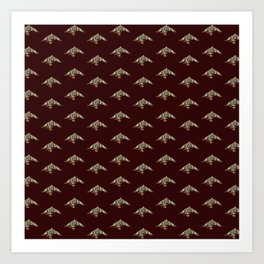 Traditional Japanese pattern MATSUKUI-ZURU Art Print