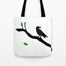 Old Crow Tote Bag