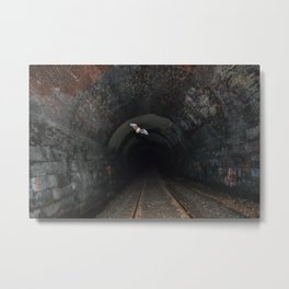 Bat In A Haunted Tunnel Metal Print