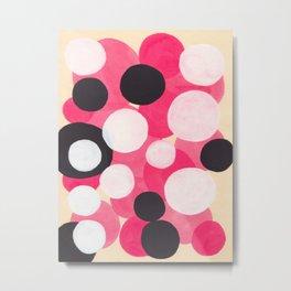 Bubblegum Pink Colorful Bubble Pattern Metal Print